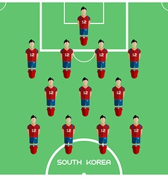 Computer game South Korea Football club player vector image