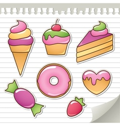 Sweet stickers vector