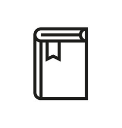 book icon on white background vector image vector image