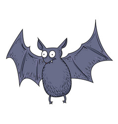Cartoon image of halloween bat vector