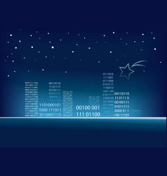 Christmas code city vector image