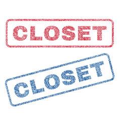 Closet textile stamps vector