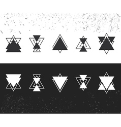 Collection of trendy geometric shapes Geometric vector image vector image