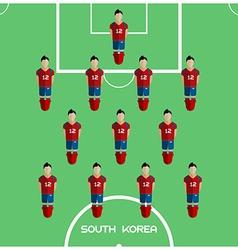 Computer game south korea football club player vector