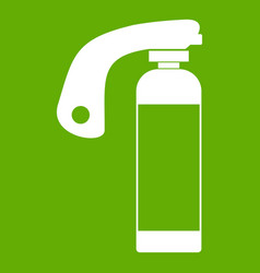 Fire extinguisher icon green vector