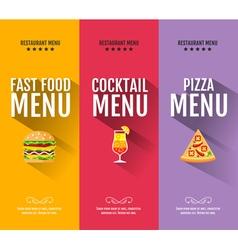 Flat fast food menu typography design vector image