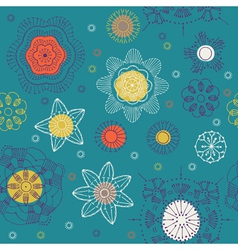 geometric wallpaper vector image vector image