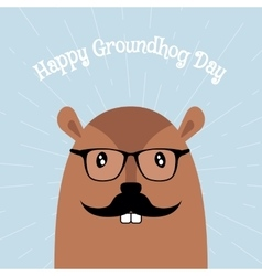 Happy Groundhog Day Card vector image