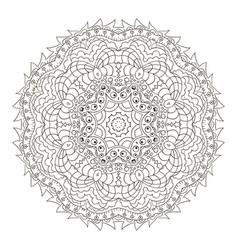 Mandala zentangl round ornament relax meditation vector