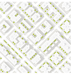 Map of the city in white style vector