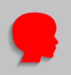 People head sign red icon with soft vector