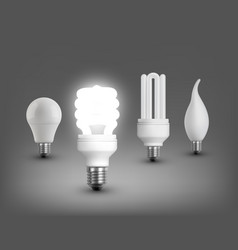 Realistic lamps collection vector