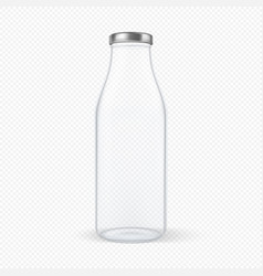 realistic transparent closed empty glass vector image vector image