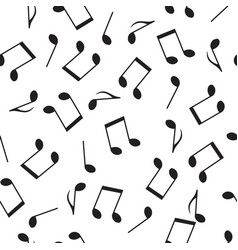 Seamless pattern drawn music notes vector