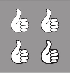 Set of thumb up icons vector image vector image