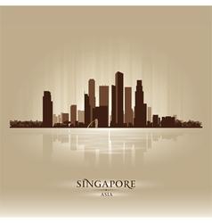 Singapore asia skyline city silhouette vector