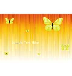 Solar background with butterflies vector