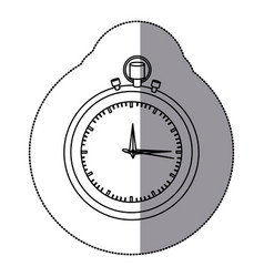Sticker silhouette stopwatch graphic icon flat vector