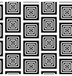 The pattern of black and white squares vector image vector image