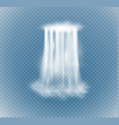 waterfall isolated on transparent background vector image
