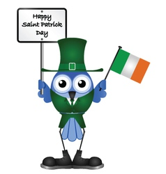 Bird saint patrick day vector