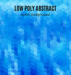 Low poly abstract background blue polygonal vector