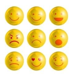 Emoji emoticons set vector image