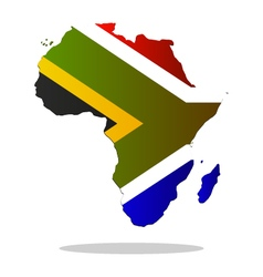 Map of africa with flag vector