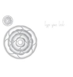 White camellia paper carve vector