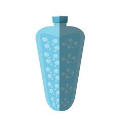Bottle water liquid fresh shadow vector
