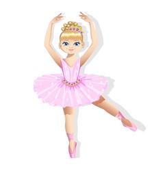 Sweet little ballerina in a shiny dress vector