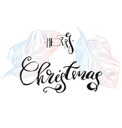 hand drawn abstract textured graphic merry vector image