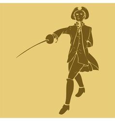 17th century swordsman vector