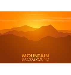 Mountain range over sunset background vector