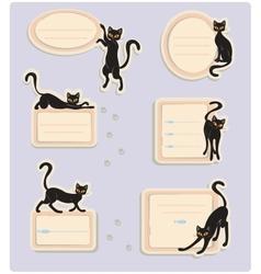 6 cat labels vector