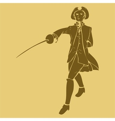 17th century swordsman vector
