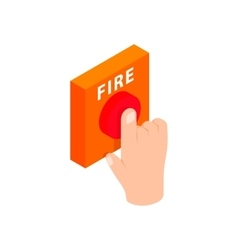 Fire alarm isometric 3d icon vector