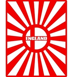 England flag on sun rays backdrop vector