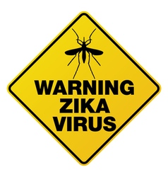 Warning zika virus sign vector