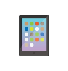Modern electronic tablet gadget black vector