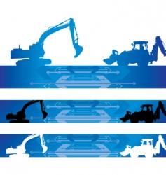 arrow construction background vector image