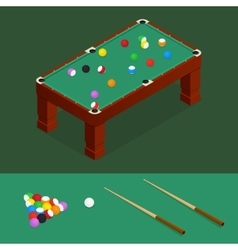 Billiards Isometric View vector image vector image