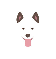 Cute cartoon dog head smiling and sticking out vector