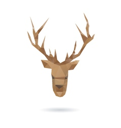 Deer head abstract isolated vector