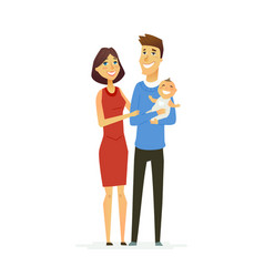 family - colored modern flat vector image vector image