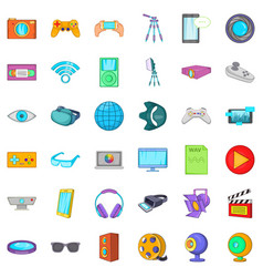 Film studio icons set cartoon style vector