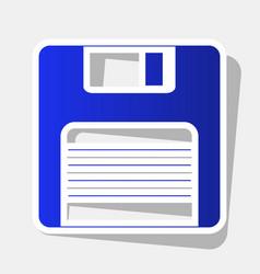 Floppy disk sign new year bluish icon vector