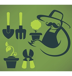 Garden and farm vector