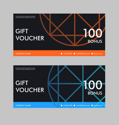 gift voucher template with colorful pattern vector image vector image