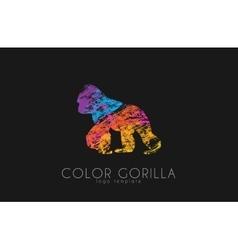 Gorilla gorilla logo color gorilla design vector